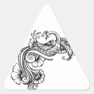 oiseau stickers en triangle