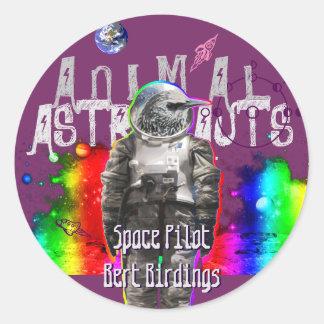 Oiseau d'Astro Sticker Rond