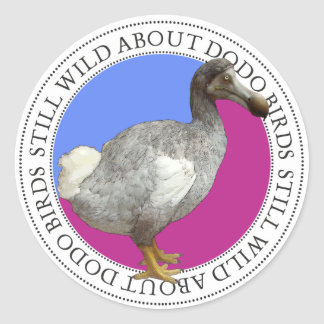 Oiseau de dronte sticker rond