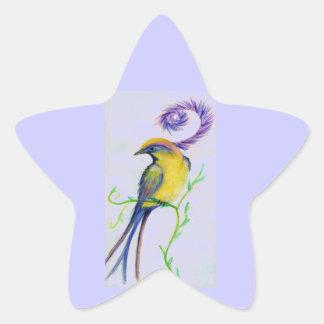 oiseau de fleur stickers en étoile