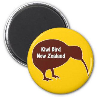 Oiseau de kiwi - Nouvelle Zélande Magnet Rond 8 Cm