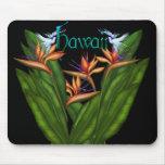 Oiseau du paradis Hawaï Mousepad Tapis De Souris