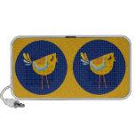 Oiseau jaune d'art populaire, mignon ! haut-parleur iPod