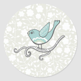 Oiseau Sticker Rond