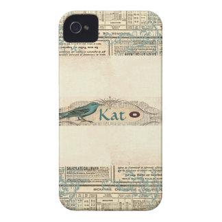 Oiseau vintage Blackberry 9700/9780 audacieux de j Coques iPhone 4 Case-Mate