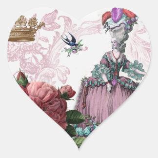 oiseaux aux. de cage de La (la cage à oiseaux) Sticker Cœur