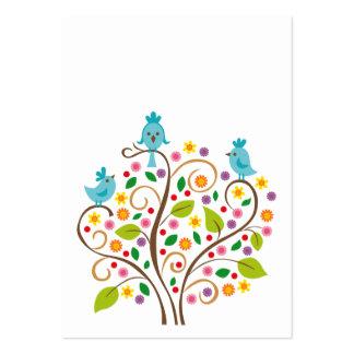 Oiseaux bleus modèles de cartes de visite