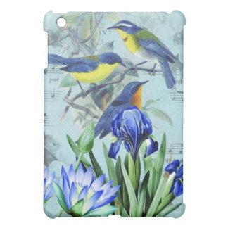 Oiseaux chanteurs floraux vintages habillement et  coque iPad mini