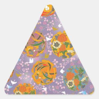 Oiseaux d'origami autocollants en triangle