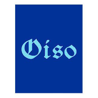 Oiso also bayrisch bayerisch Bayern Postkarte