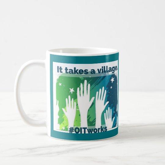 OIT, das Hände erreicht: 2 verschiedene Seiten Kaffeetasse