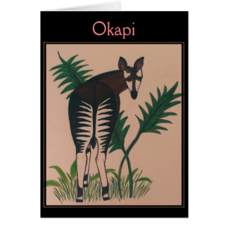 Okapi-Illustration Karte