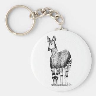 Okapi-Kunst-Schlüsselring Schlüsselanhänger