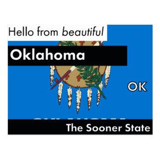 Oklahoma der eher Staat Postkarte