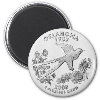 Oklahoma-Staats-Viertel-Magnet Runder Magnet 5,7 Cm