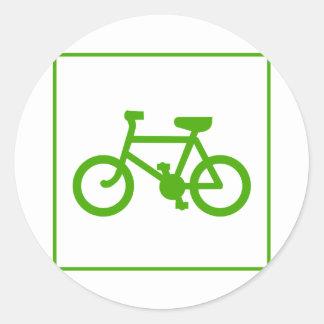 Öko grünen Fahrradikone, Fahrrad, Ökologie Runder Aufkleber