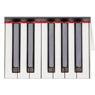 Oktaven-Klavier-Raum-Gruß-Karte Grußkarte