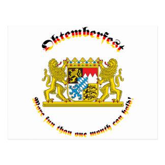 Oktemberfest mit den bayerischen größeren Armen Postkarte