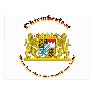 Oktemberfest mit den bayerischen größeren Armen Postkarten