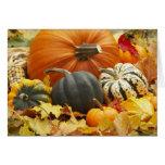 Oktober-Dekoration Grußkarte