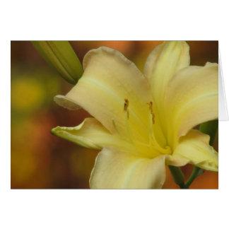 Oktober-Lilie Karte