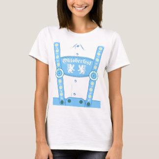 Oktoberfest blauer Lederhosen-T - Shirt
