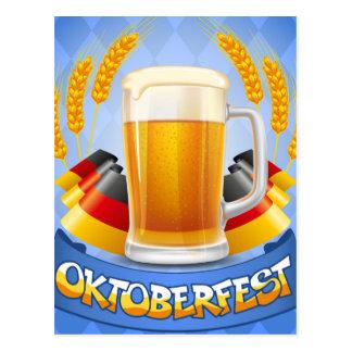 Oktoberfest Feier-Hintergrund mit Postkarte