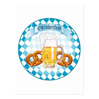 Oktoberfest Feier-runder Entwurf Postkarten