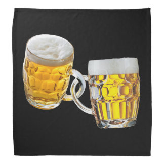 Oktoberfest Freunde zwei Bier-Gläser lustig Halstuch