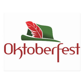 Oktoberfest Hütte Postkarten