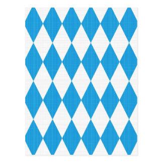 Oktoberfest Muster mit Gewebebeschaffenheit Postkarte