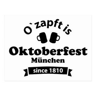 Oktoberfest O' zapft is Postkarte