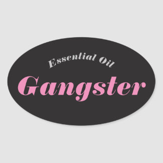 Öl-Gangster-Aufkleber Ovaler Aufkleber