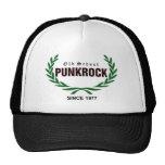 Old School Punkrock (green laurel wreath) Retro Cap