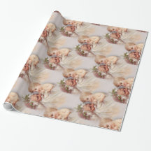 Old World Victorian Santa Claus and Cherub Wrapping Paper