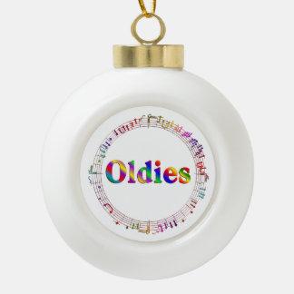 Oldie-Musik Keramik Kugel-Ornament