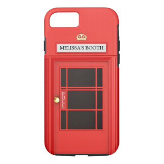 Oldschool Briten Telefonzelle iPhone 7 Hülle