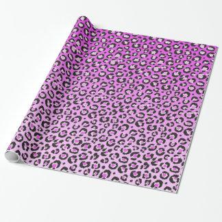 Oldschool Leopard-Druck im Rosa und im Weiß Geschenkpapier