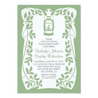 Ölen Sie rustikales Verlobungs-Party des 12,7 X 17,8 Cm Einladungskarte