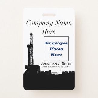 Ölfeld-Angestellt-Foto-Identifizierung Ausweis