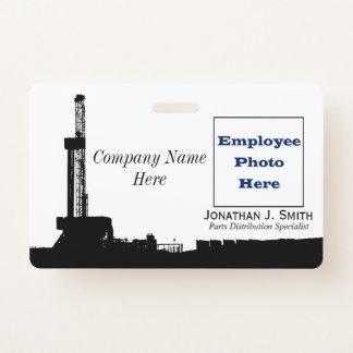 Ölfeld-Angestellter, Name, Foto-Identifizierung Ausweis