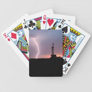 Ölfeld-Blitz-lila Sonnenaufgang Bicycle Spielkarten