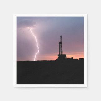 Ölfeld-Blitz-lila Sonnenaufgang Serviette