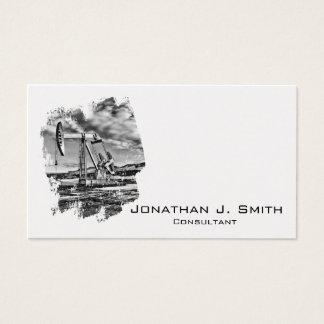 Ölfeld Pumpjack Schwarzes, Weiß, Spritzen Visitenkarte