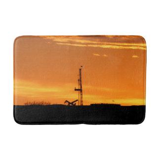 Ölfeldworkover-Service-Anlage, orange Badematte