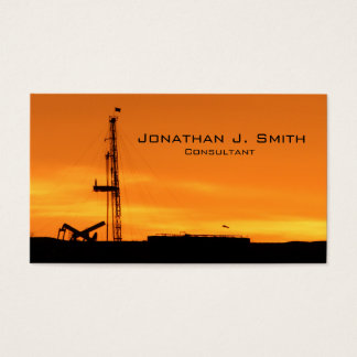 Ölfeldworkover-Service-Anlage-Sonnenuntergang Visitenkarte