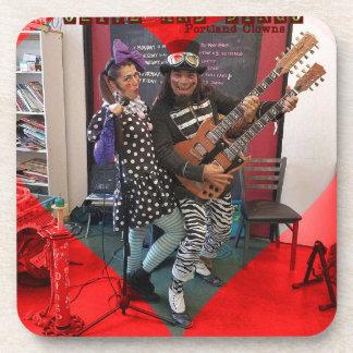 Olive und Dingo, Spaß Portland-Clowns liebend Untersetzer