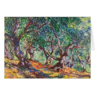 Olivenbäume in Bordighera, Claude Monet 1884 Mitteilungskarte
