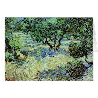 Olivenhain durch Vincent van Gogh Karte