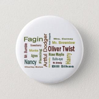 Oliver-Drehungs-Charaktere Runder Button 5,7 Cm